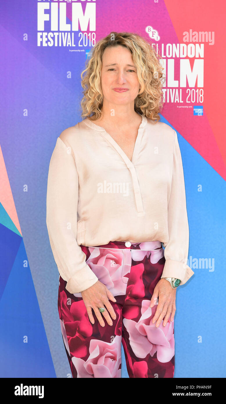 Tricia Tuttle llega al 62º bfi London Film Festival el lanzamiento del programa en Cineworld Leicester Square, Londres. Foto de stock
