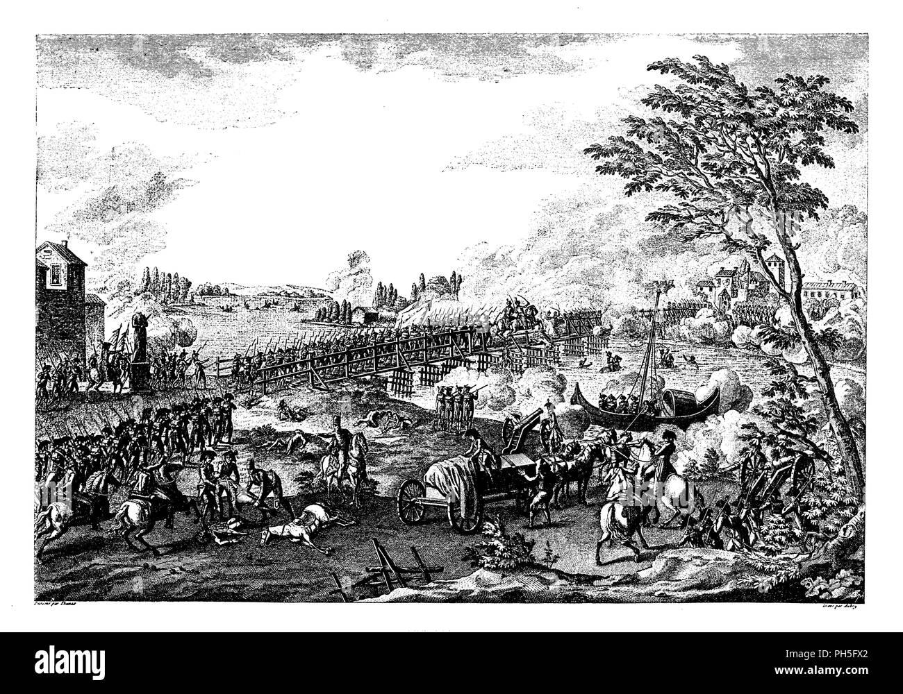 Asalto Del Puente De Lodi El 10 De Mayo De 1796 Desde La Campaña