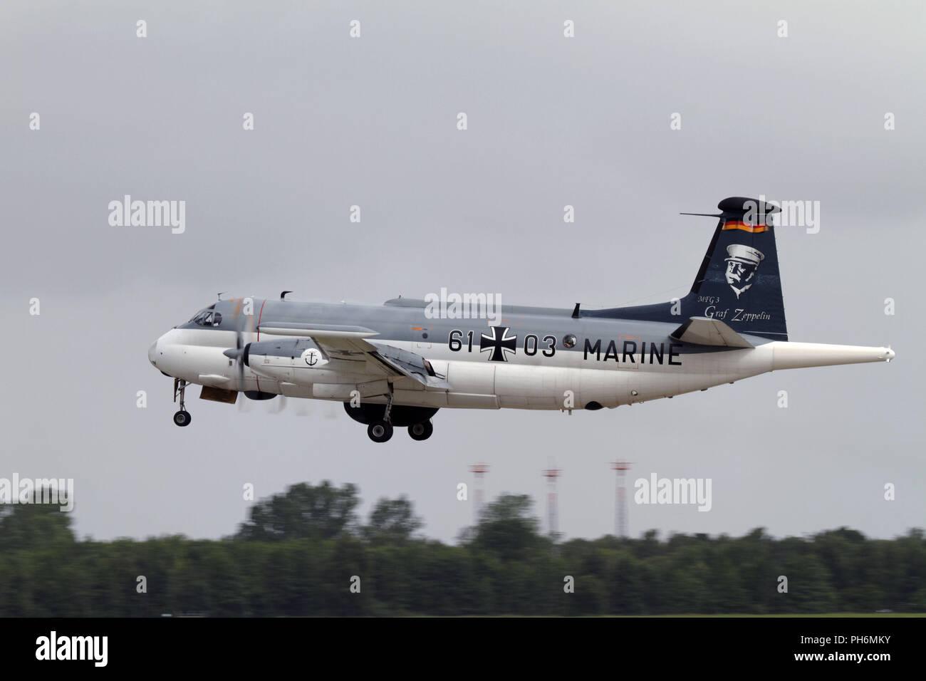 En Nordholz Marinefliegergeschwader 3. Foto de stock
