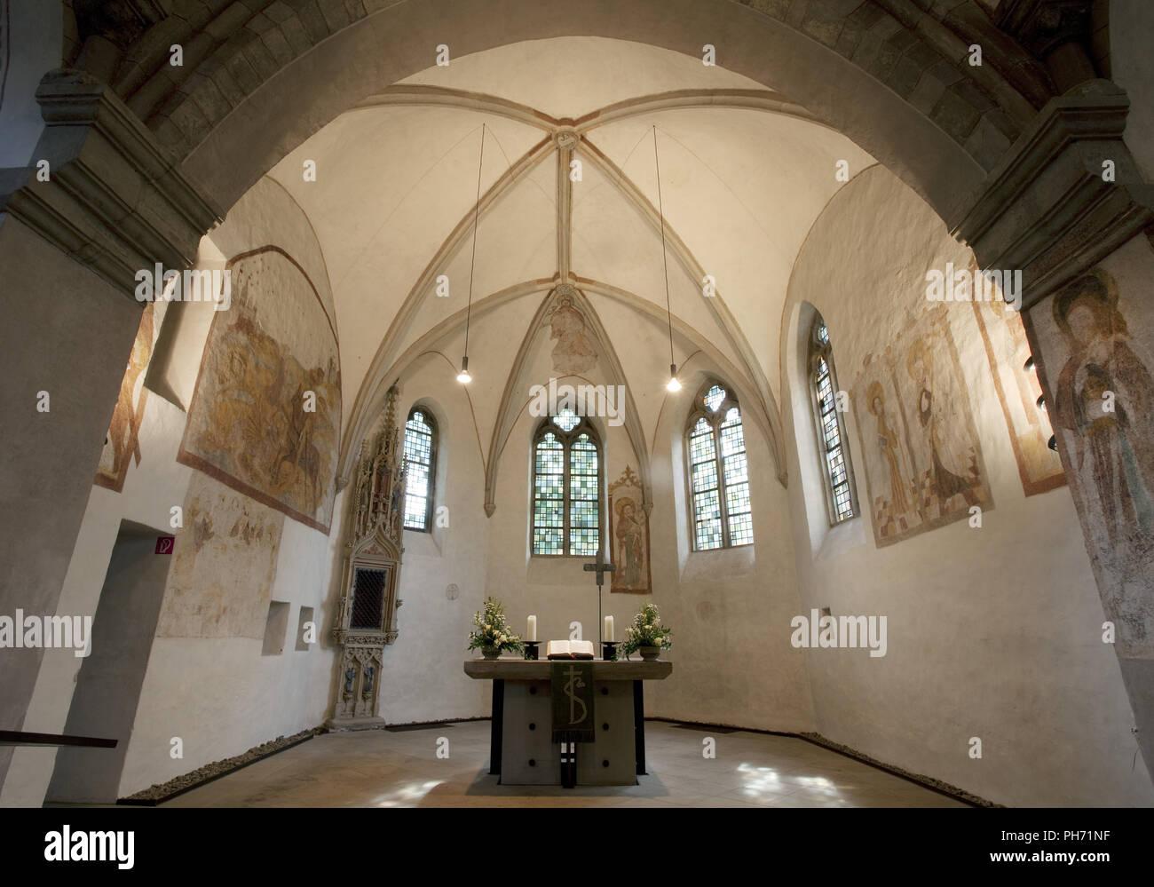 La iglesia del pueblo Stiepeler en Bochum, en Alemania. Foto de stock