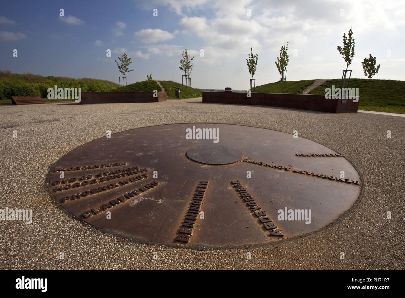 Plataforma de visualización en Phoenix Lake, Dortmund, Alemania Imagen De Stock