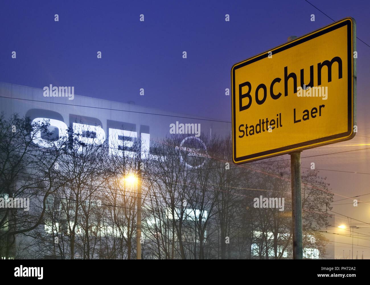 Cerrar las fábricas de Opel en Bochum, Alemania, en 2014. Imagen De Stock