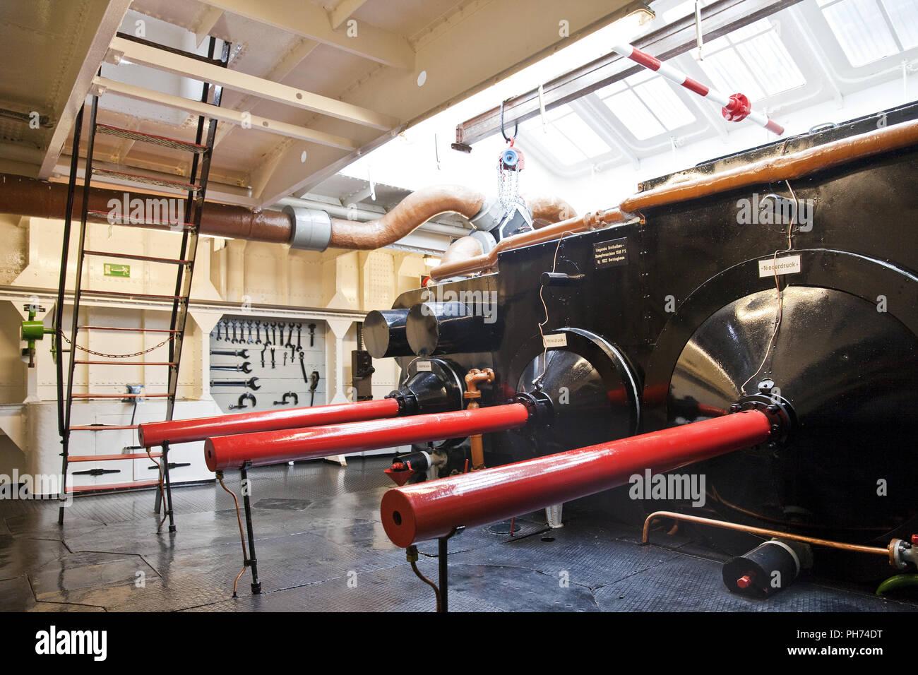 Barco Museo Oscar Huber, Duisburg, Alemania Imagen De Stock