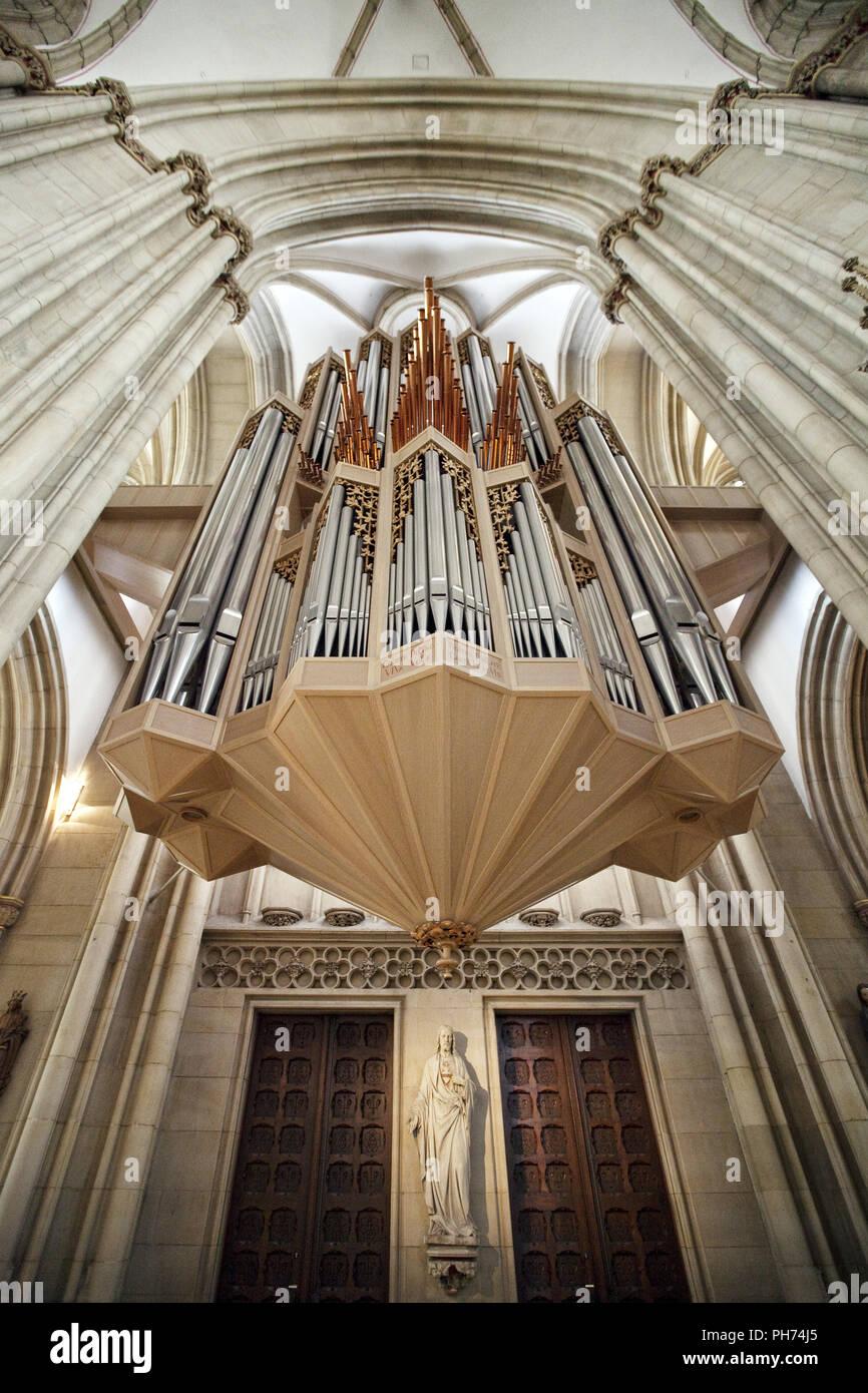 Órgano Iglesia Lamberti, Münster, Alemania Imagen De Stock