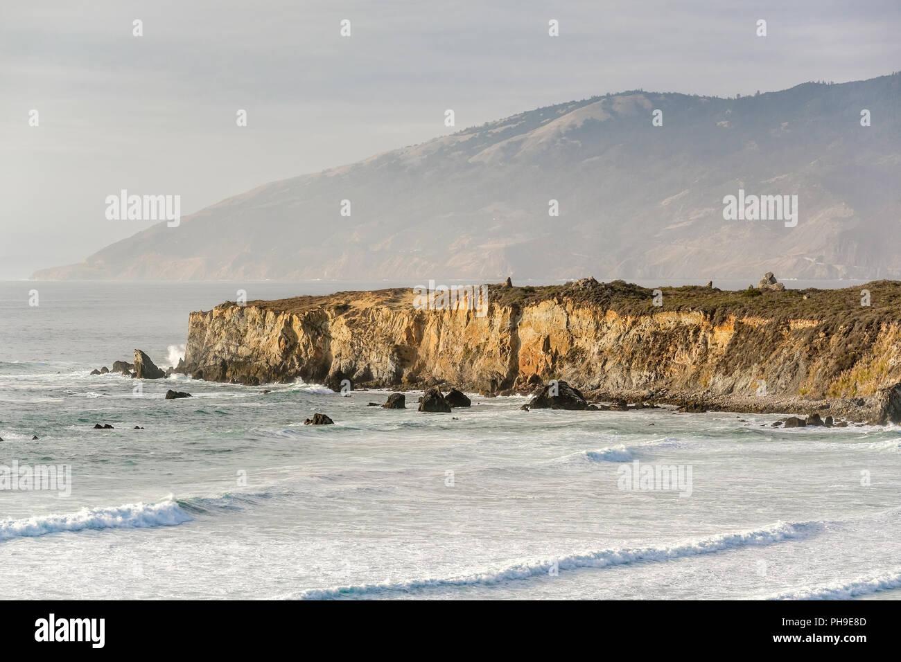 La costa del Pacífico de Estados Unidos, Dólar de Arena Beach, Big Sur, California Foto de stock