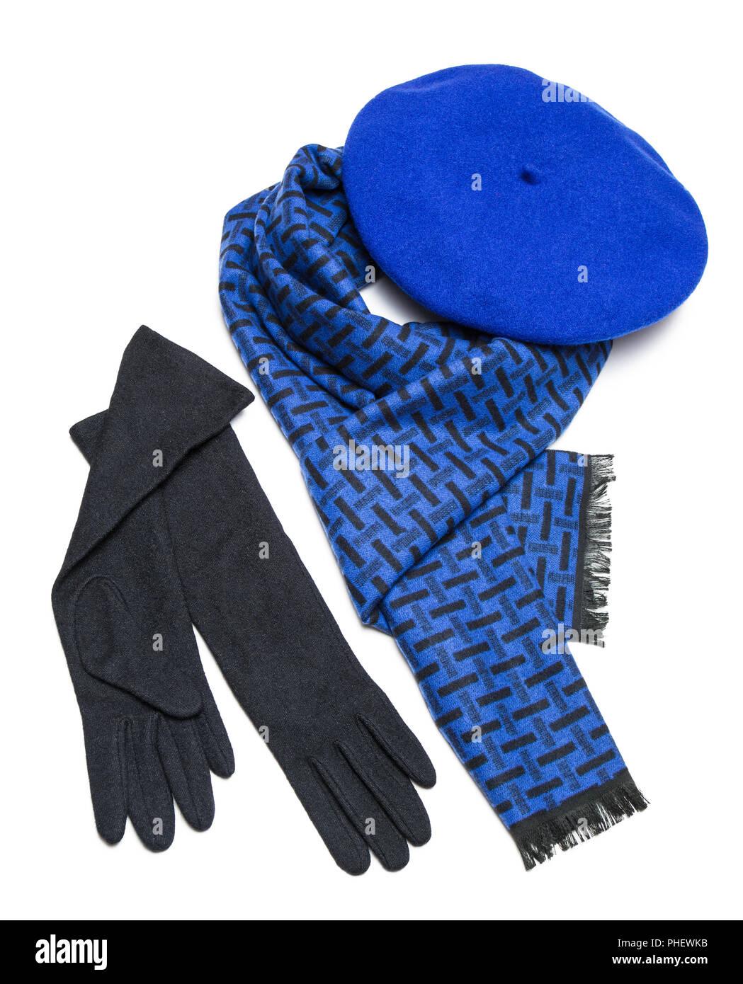 Beret And Gloves Imágenes De Stock   Beret And Gloves Fotos De Stock ... 3c90946c643