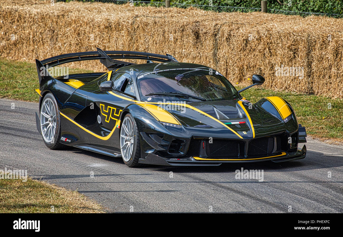 2018 Ferrari Fxx K Evo En Su Manifestacion Hillclimb Ejecutar Al 2018 Festival De Velocidad De Goodwood Sussex Reino Unido Fotografia De Stock Alamy