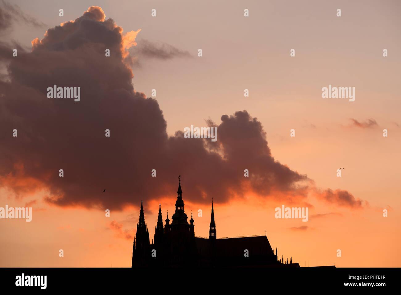 Hradcany, el Castillo de Praga, Praga, República Checa. Foto de stock