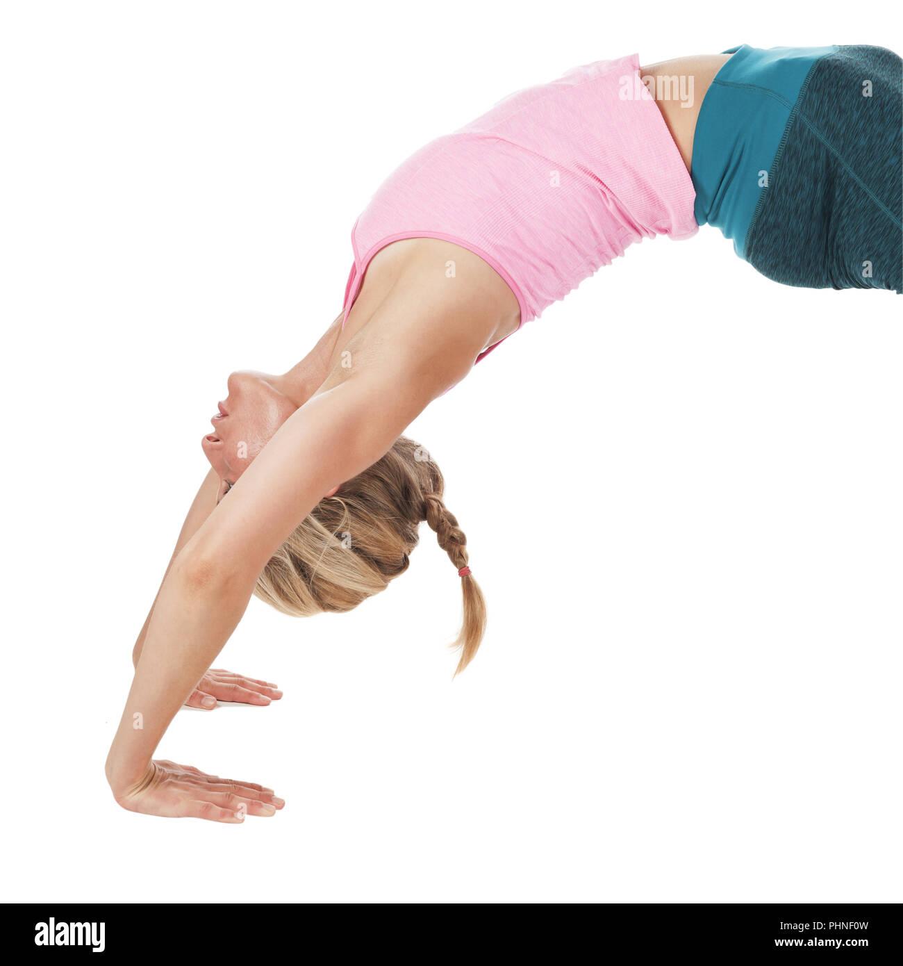 Yoga_la_RUEDA PARTE SUPERIOR Imagen De Stock