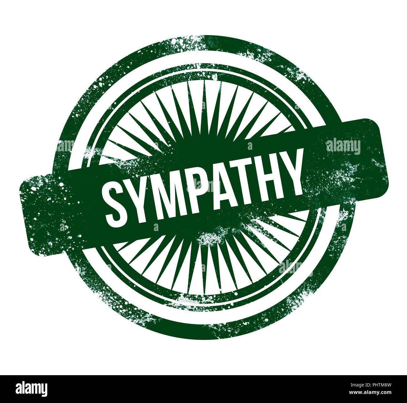 Simpatía - grunge sello verde Imagen De Stock