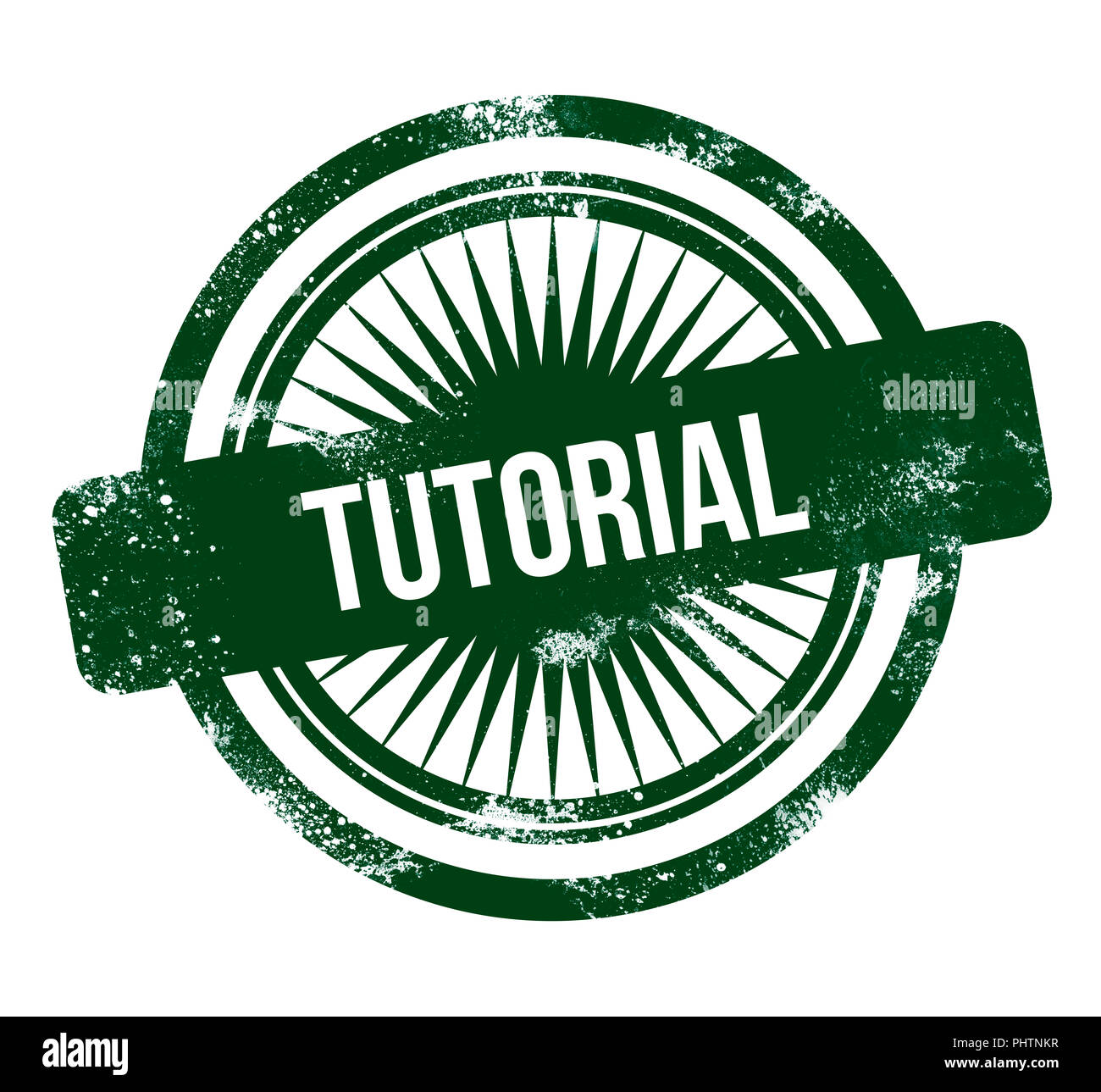 Tutorial - grunge sello verde Foto de stock