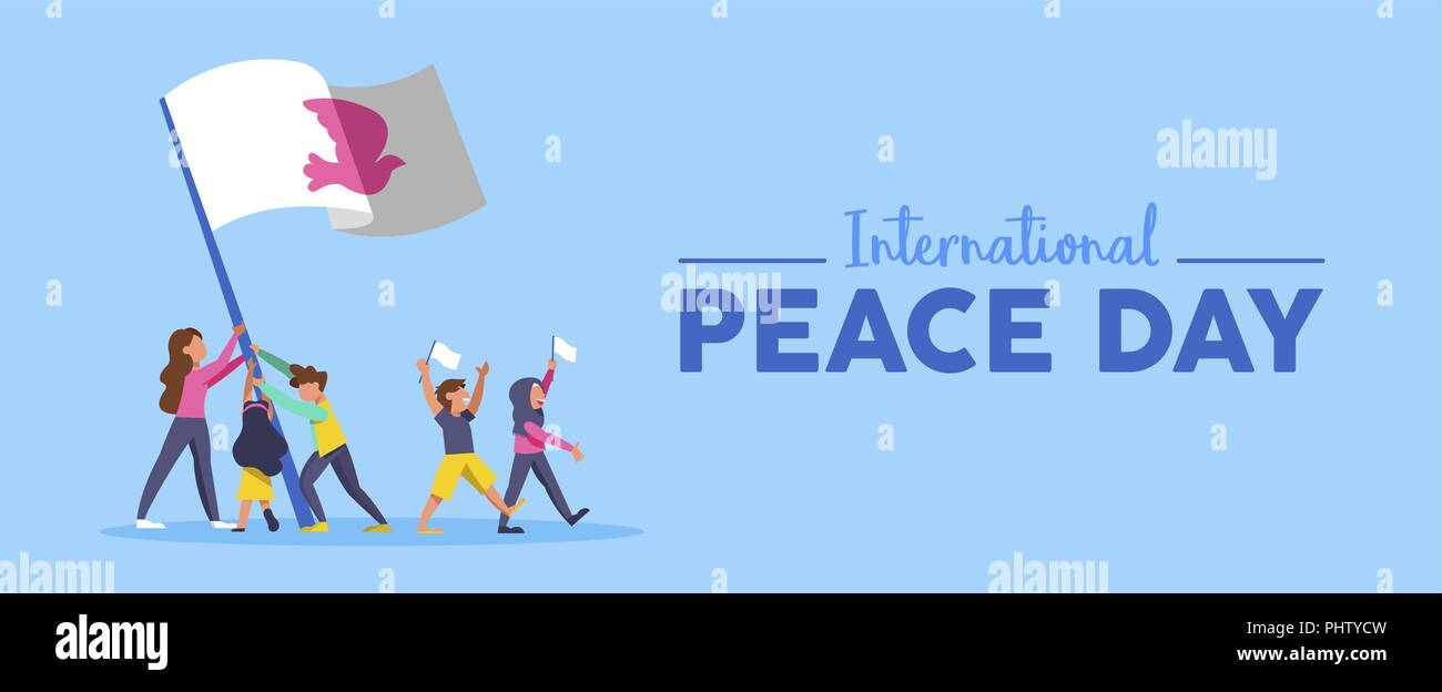El Día Internacional de la paz el banner web ilustración para la ...