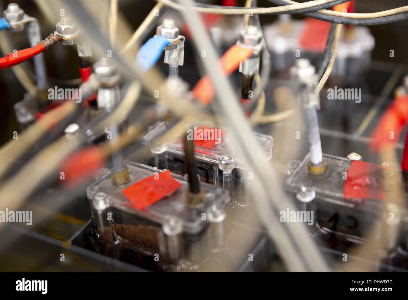 Detalle de las celdas de la batería Imagen De Stock