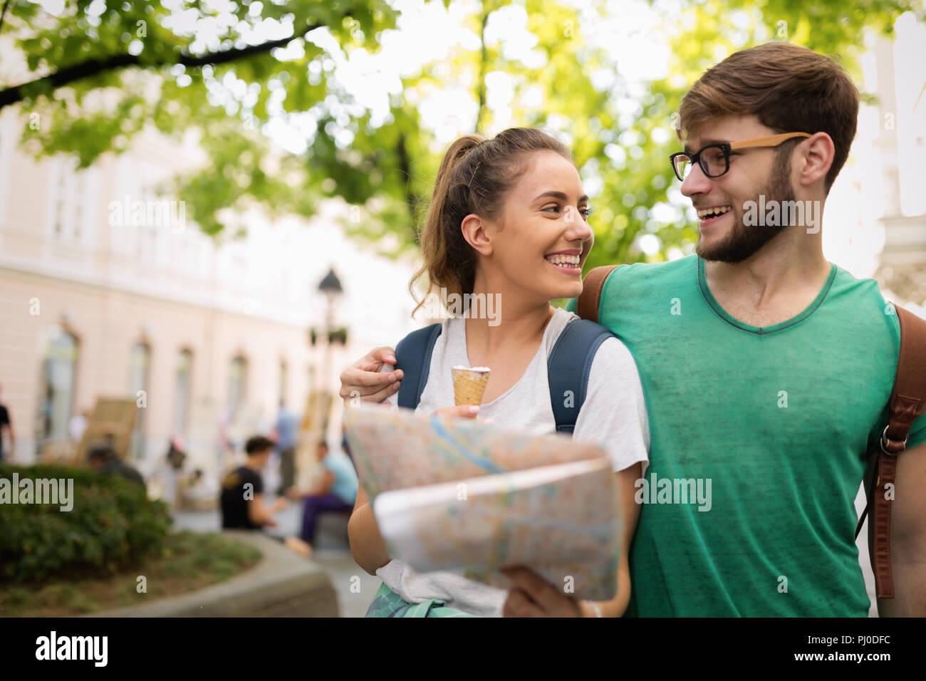 Viajar los jóvenes turismo Imagen De Stock