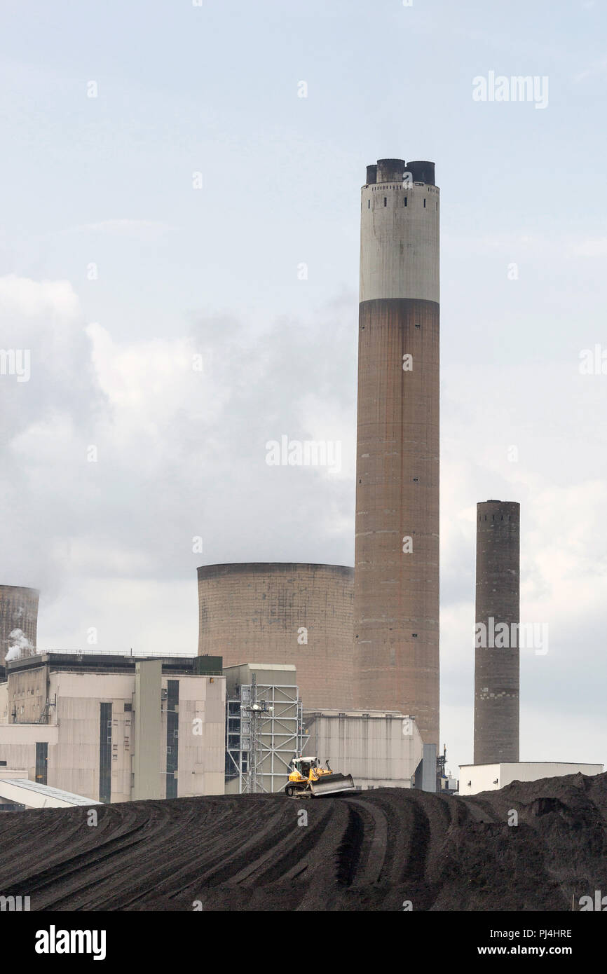 En Ratcliffe Soar Power Station, Nottinghamshire, REINO UNIDO Foto de stock