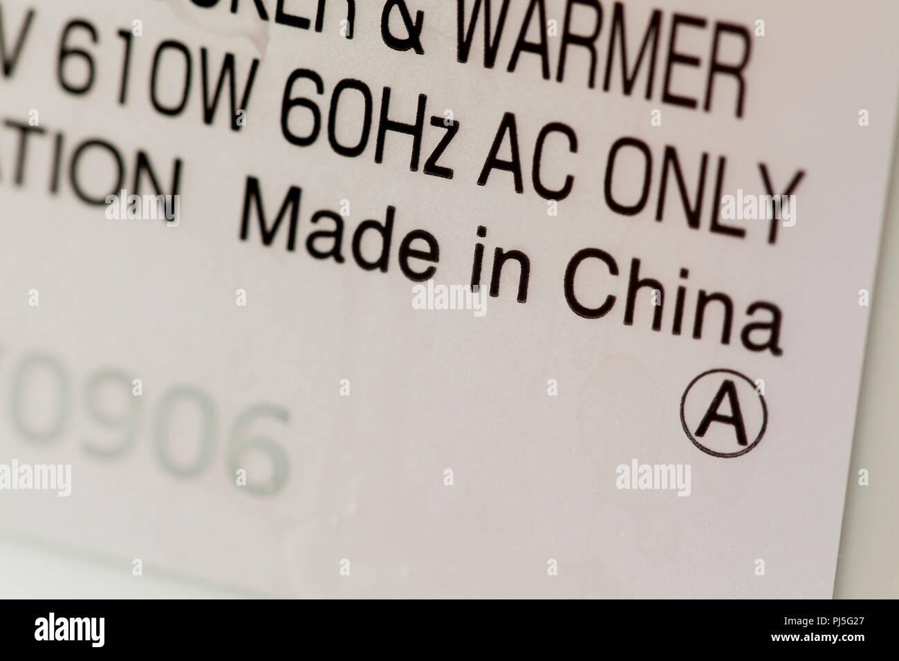 Made China Label Imágenes De Stock   Made China Label Fotos De Stock ... 8e62575f8ba