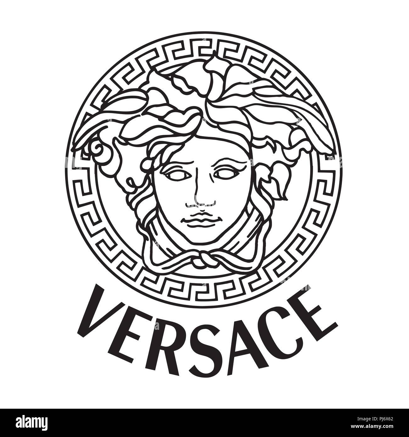 6b58c5cc5d Versace Medusa logo marca de lujo de moda ropa ilustración Foto ...