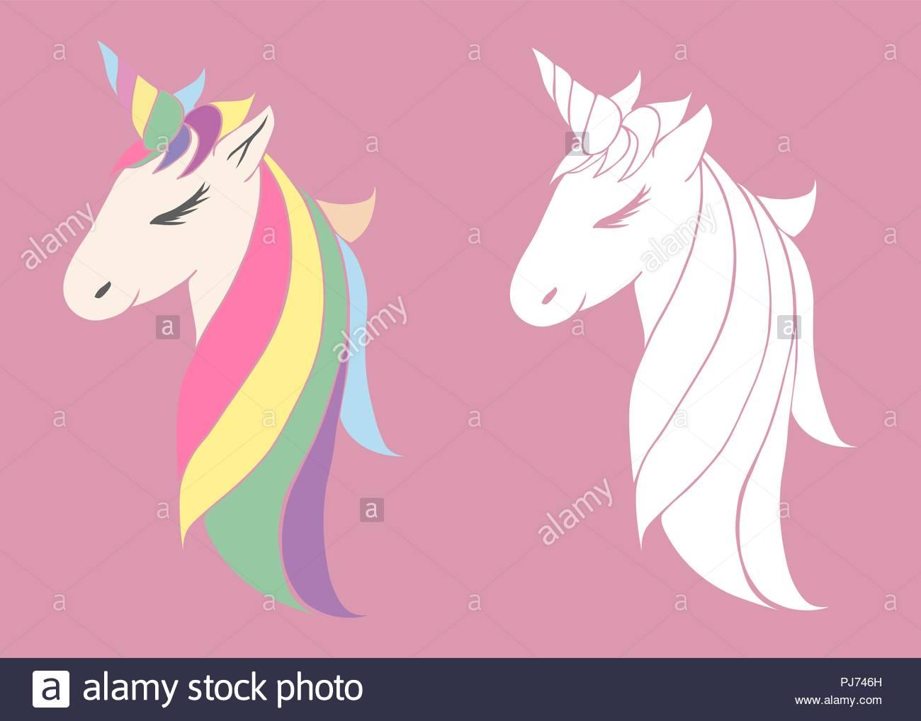 Imagenes De Cara Unicornio Para Colorear Apanageetcom
