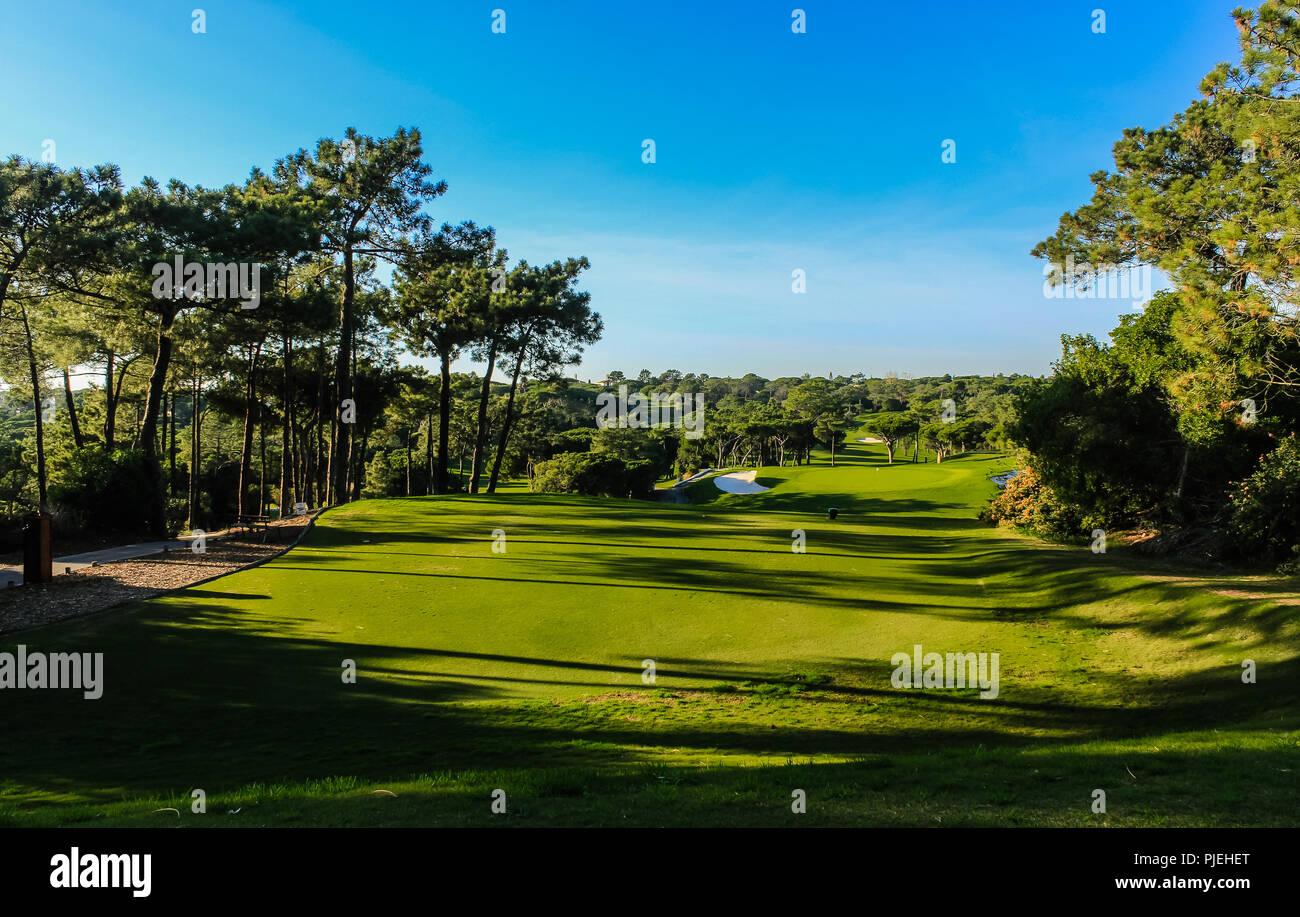 Quinta do Lago Gold Course - mejores Campos de Golf de Portugal - Algarve Foto de stock