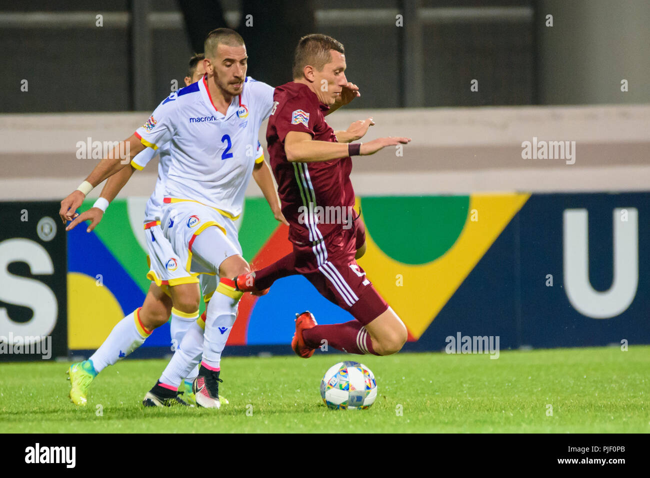 Letônia x Andorra