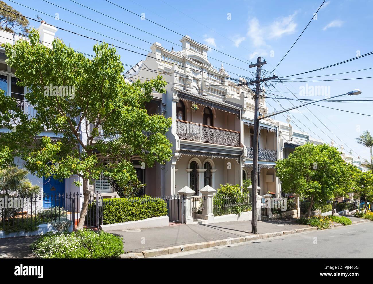 Terraza Casas Pequeñas En Paddington Australia