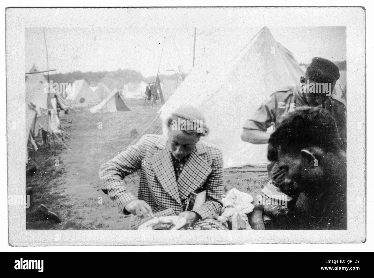 5º Jamboree Scout Mundial, celebrada en Bloemendaal Vogelenzang Holanda, Holanda,1937 Foto de stock