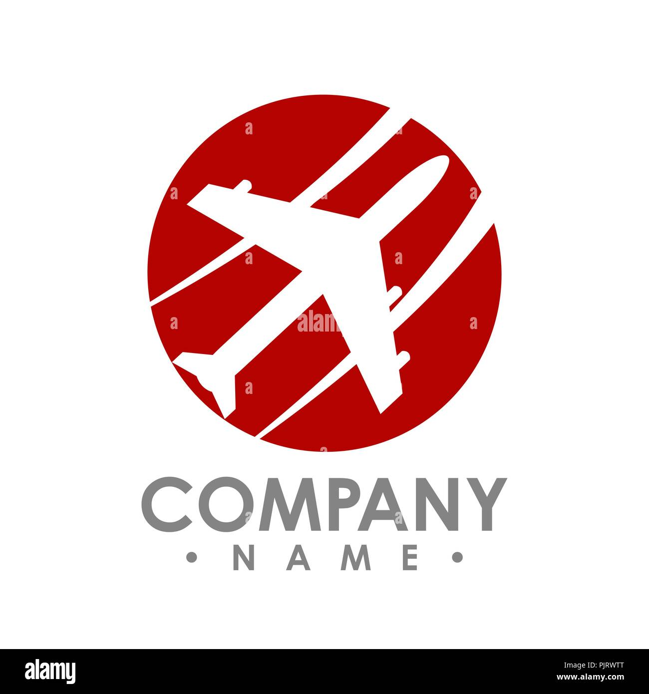Agencia De Viajes Diseño De Logotipo Idea Con Avión En El Espacio