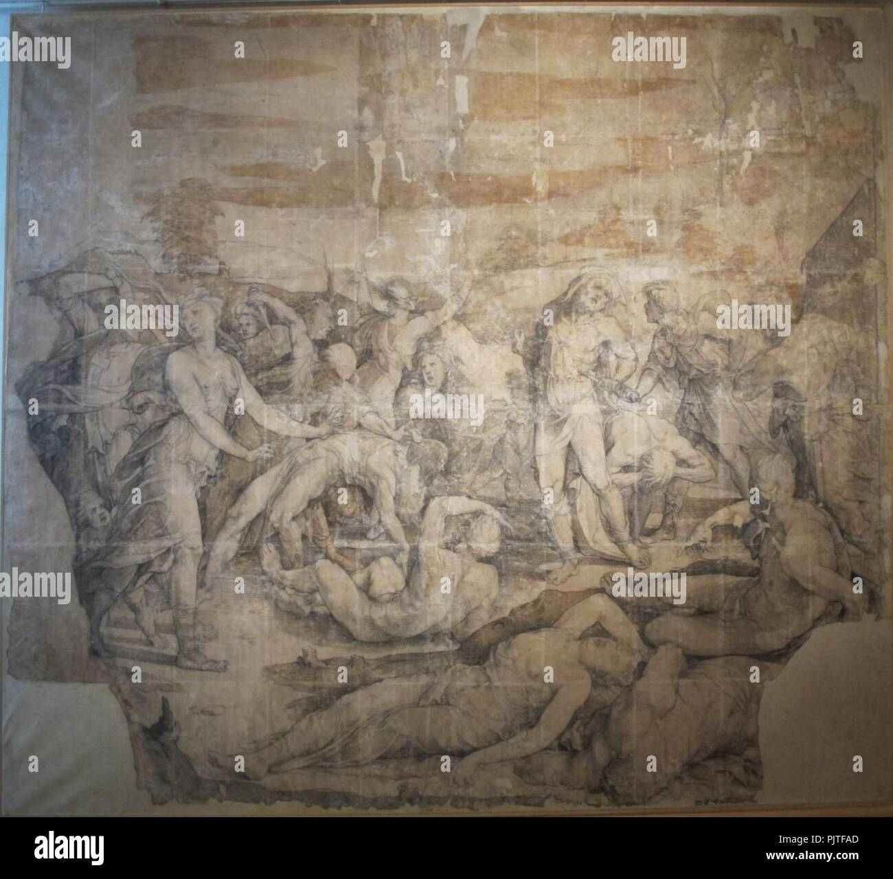 Beccafumi, cartone por pavimento duomo diena, 1529-1531, 01. Imagen De Stock