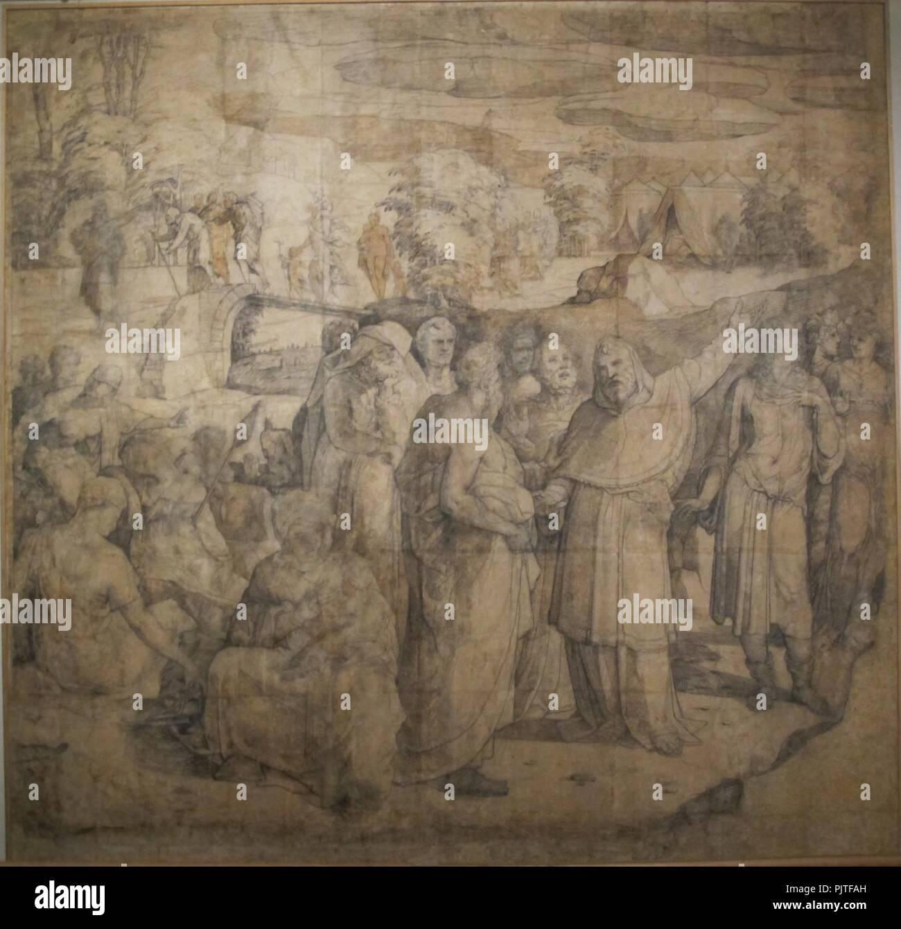 Beccafumi, cartone por pavimento duomo diena, 1529-1531, 05. Imagen De Stock