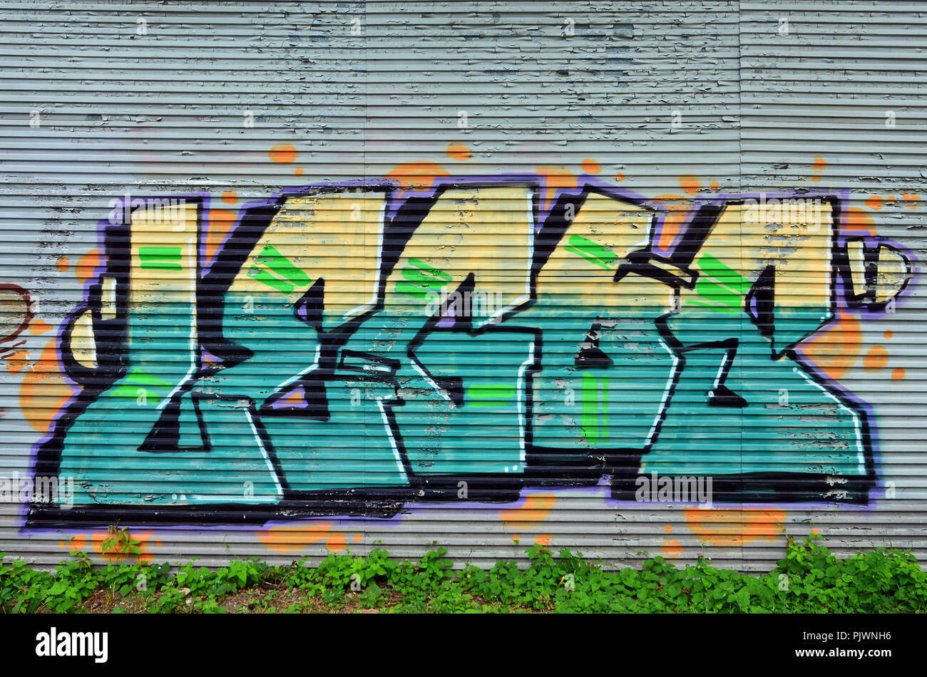 Hermoso Arte Callejero Graffiti Resumen De Dibujo Creativo Color
