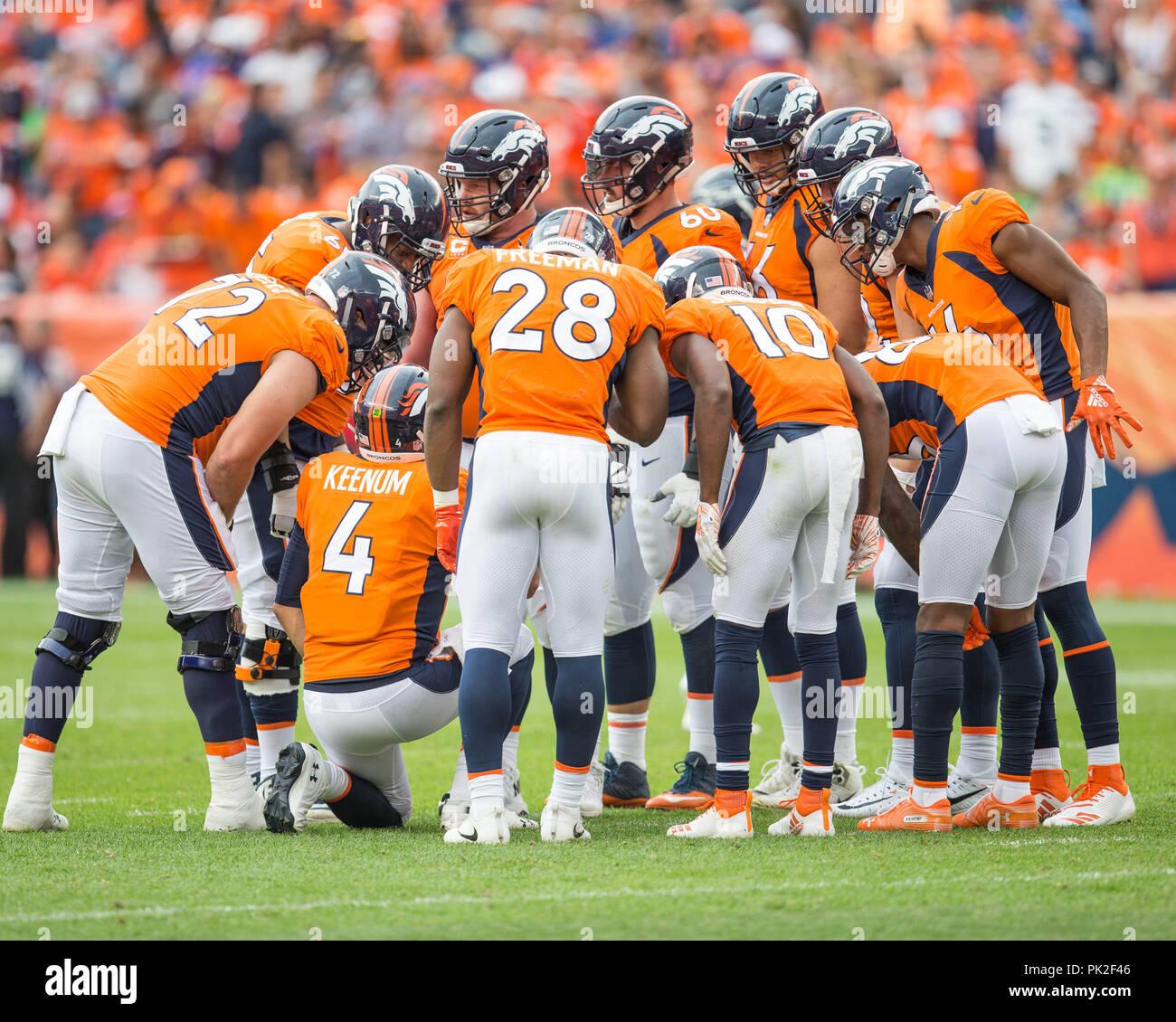 Denver Broncos Quarterback On The Imágenes De Stock