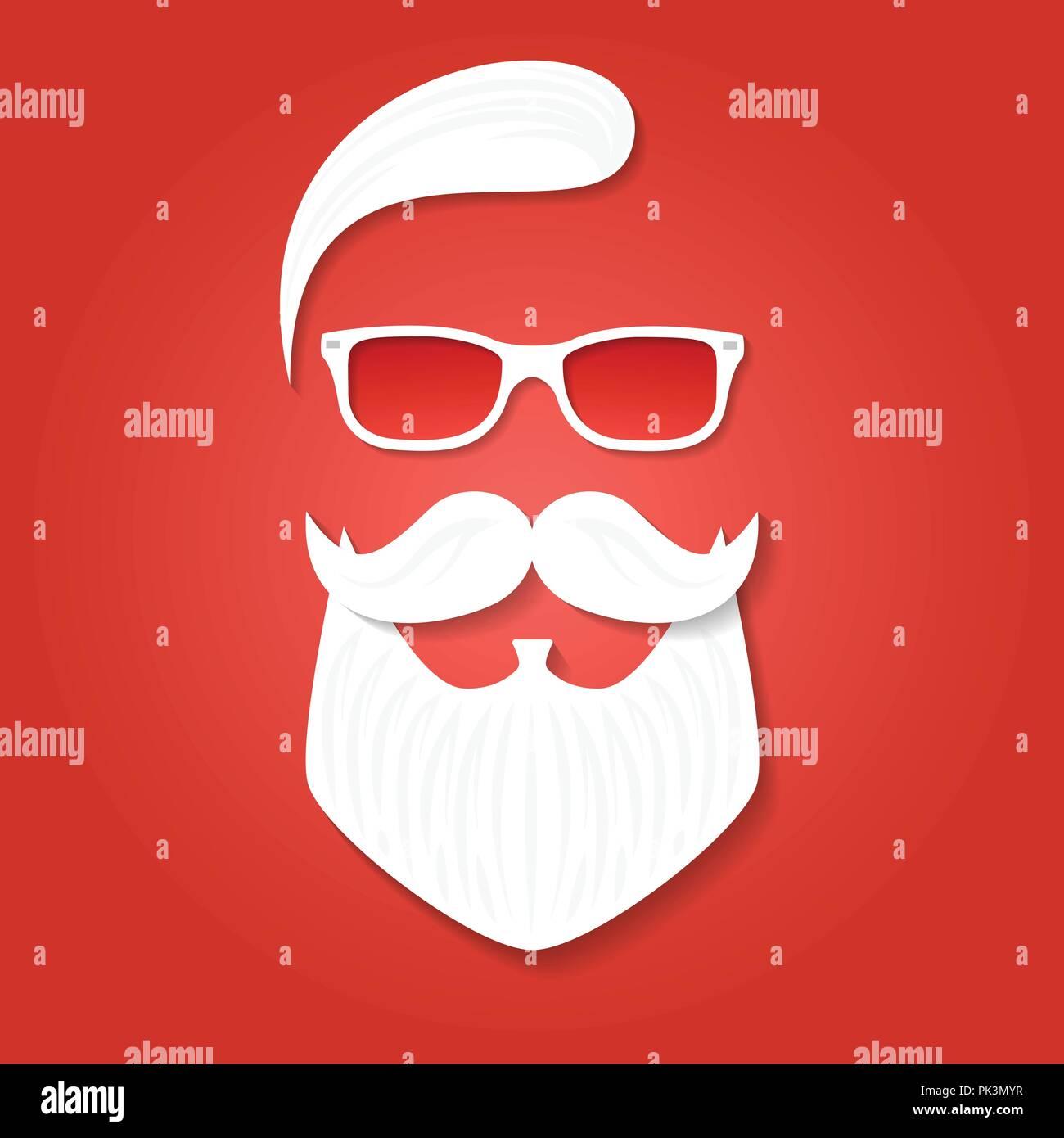 Plantilla De Tarjeta De Felicitación De Navidad Santa Claus