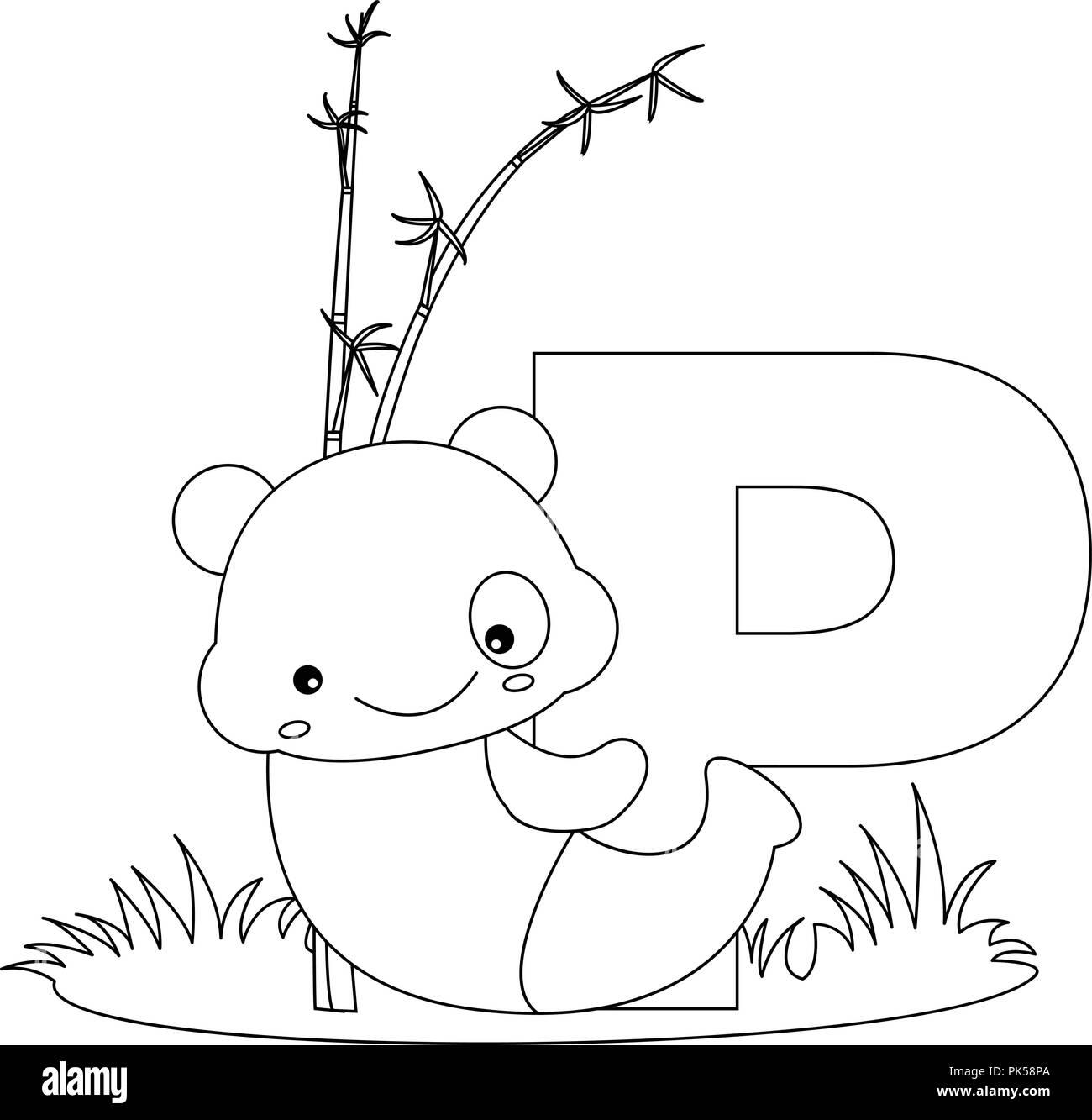 Abecedario Animales Libro Para Colorear La Ilustración Con