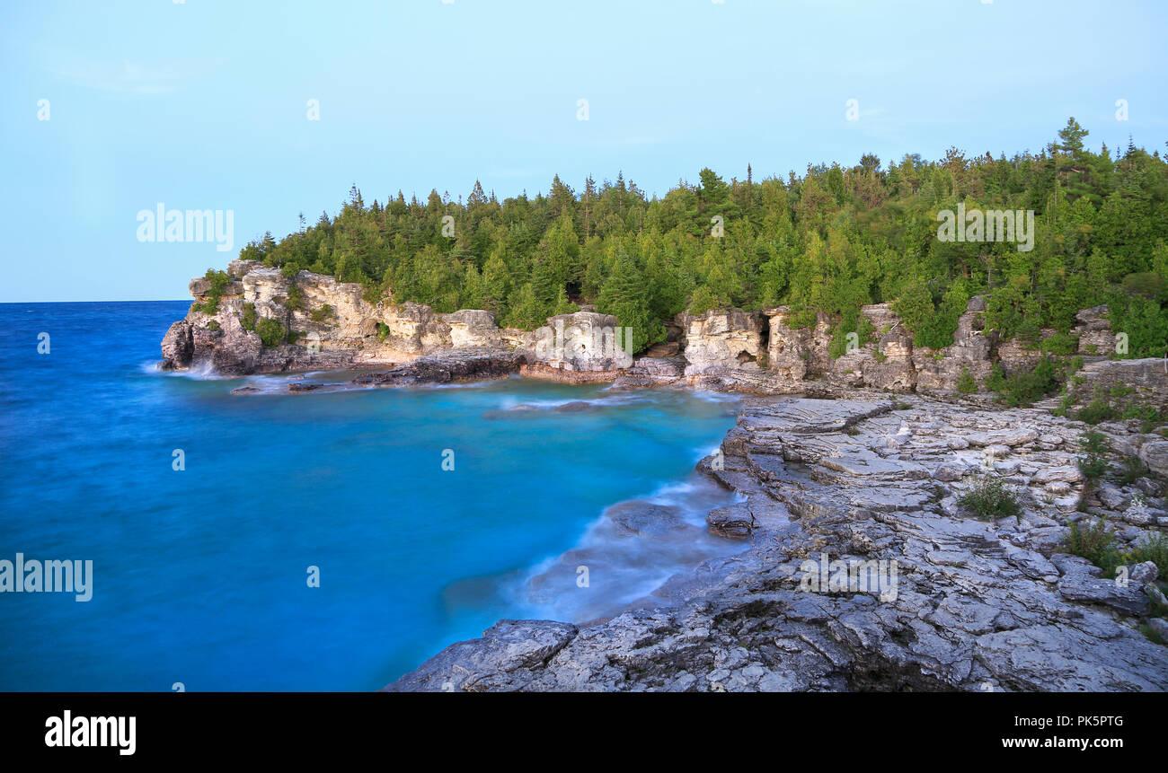 Cabeza de Indio Cove en Georgian Bay, el Lago Hurón, Canadá Foto de stock