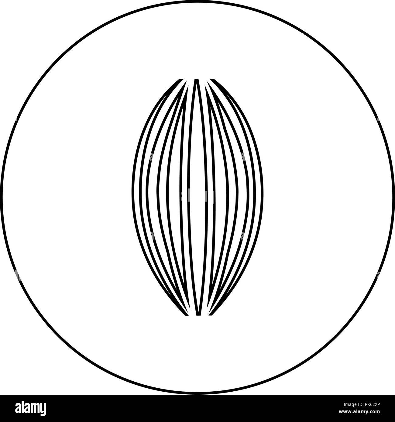 Icono muscular de color negro en círculo esbozo ilustración vectorial Imagen De Stock
