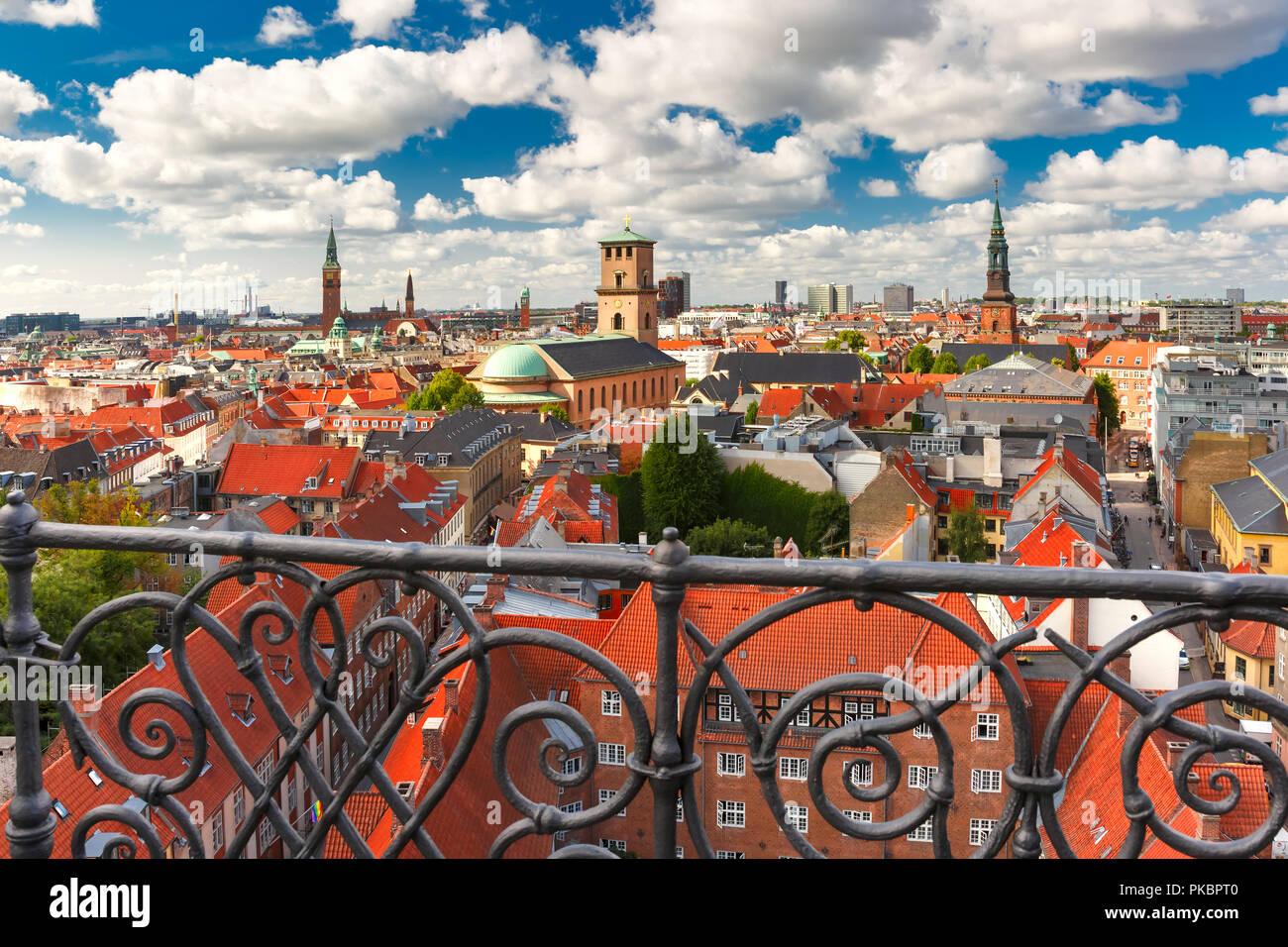 Vista aérea de Copenhague, Dinamarca Foto de stock