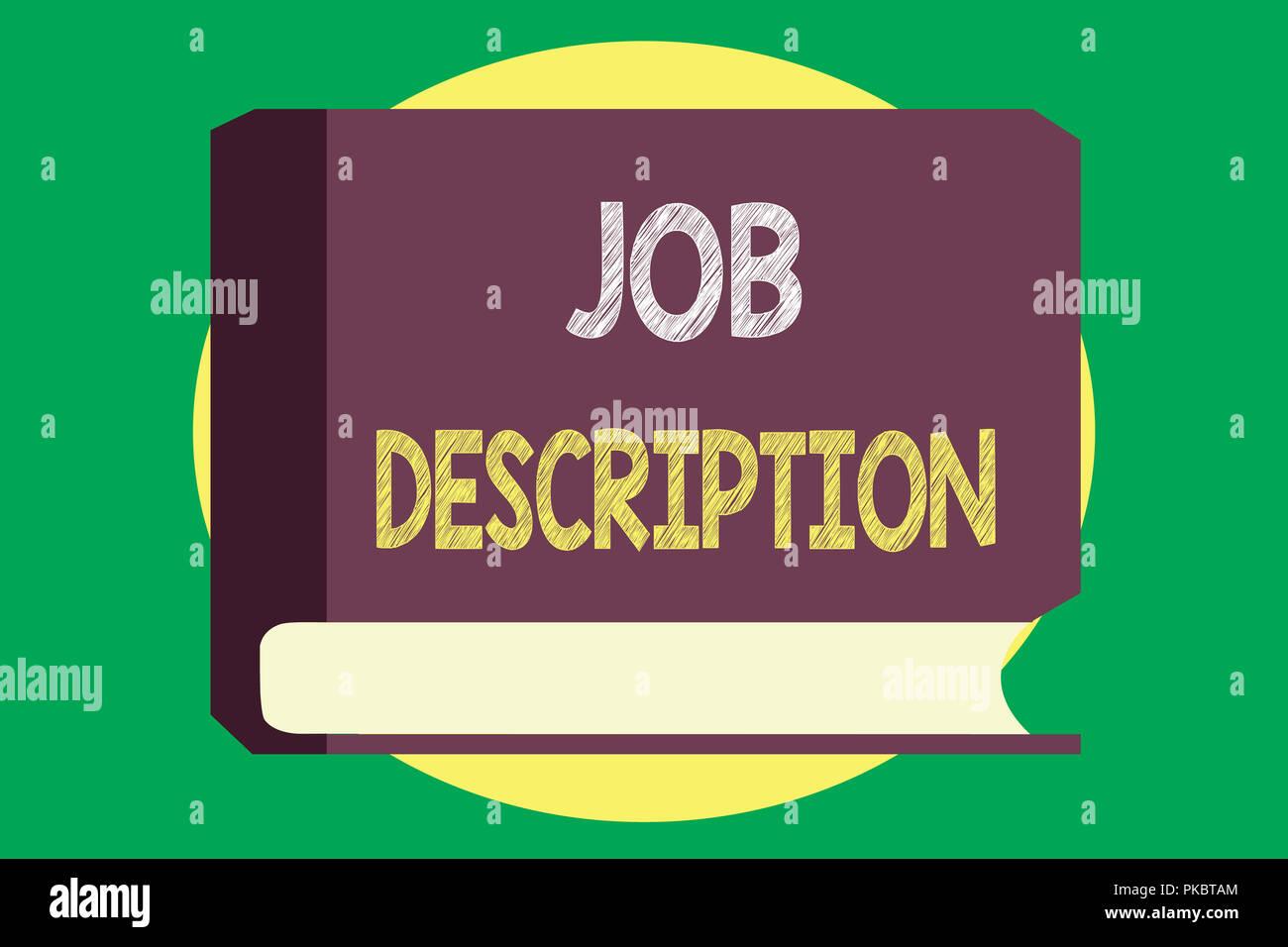 a993a8a9f Escritura escritura de texto Descripción de trabajo. Concepto Significado  un documento que describe las responsabilidades de un puesto.