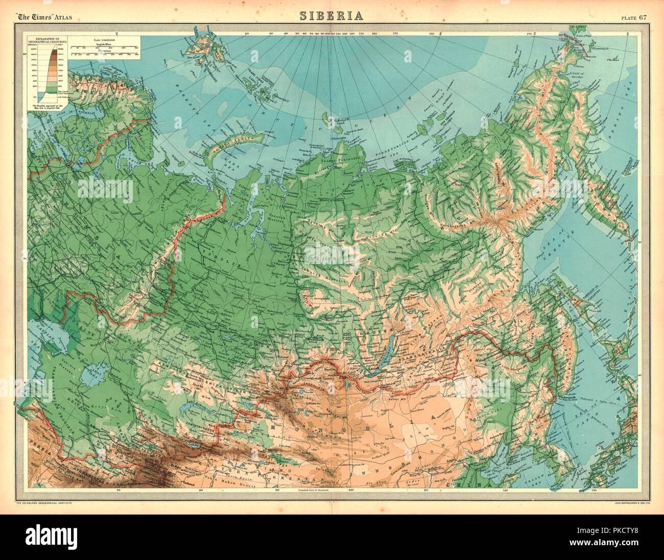 Picture of: Mapa De Siberia Artista Desconocido Fotografia De Stock Alamy