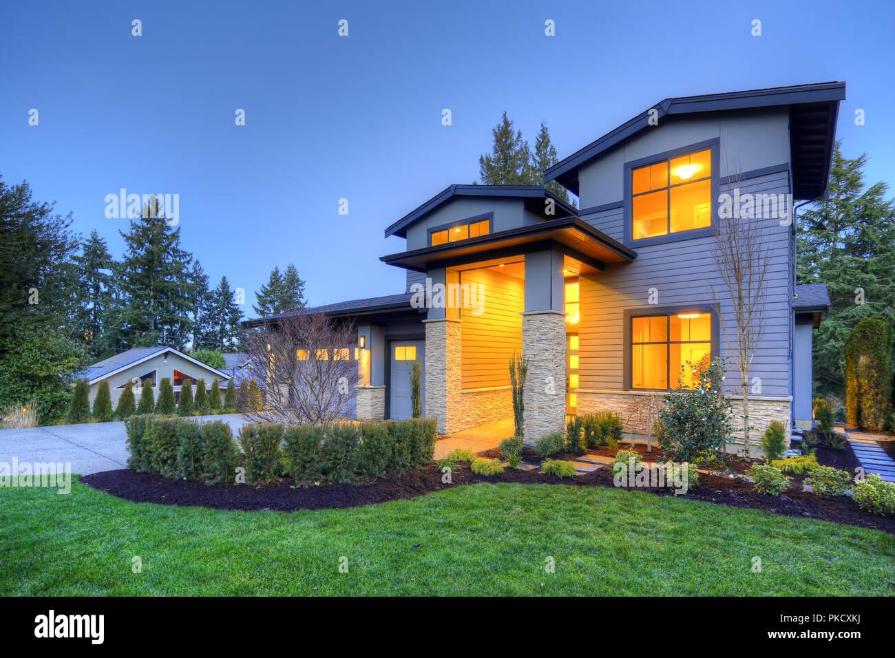 Lujosa casa interior en Bellevue, WA Imagen De Stock