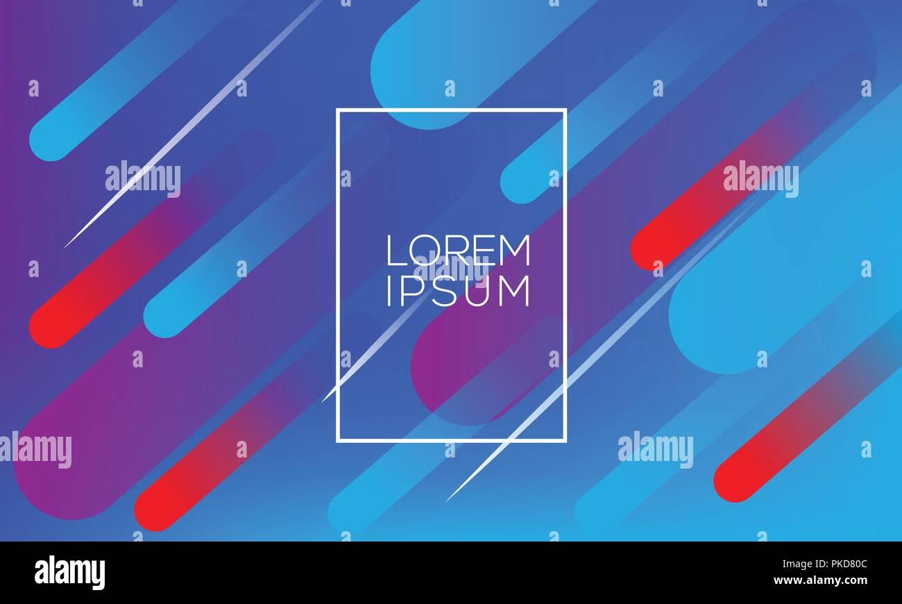 Diseño de fondo geométricos coloridos. Líquido de composición de formas con gradientes de moda. Vector eps10. Imagen De Stock