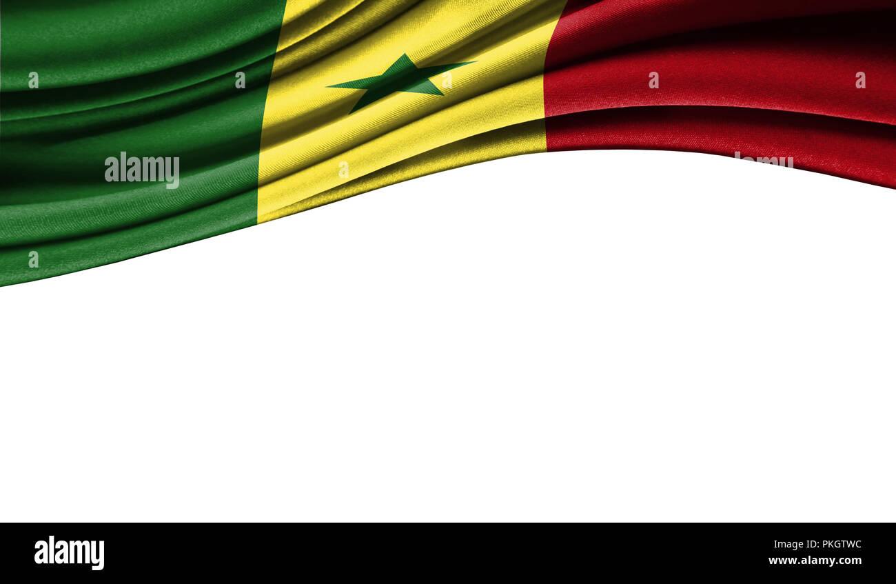 Grunge Colorida Bandera De Senegal Con Copyspace Para Su
