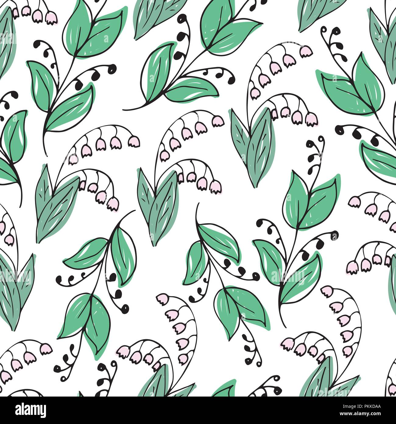 Lily Of The Valley Drawing Imágenes De Stock & Lily Of The Valley ...