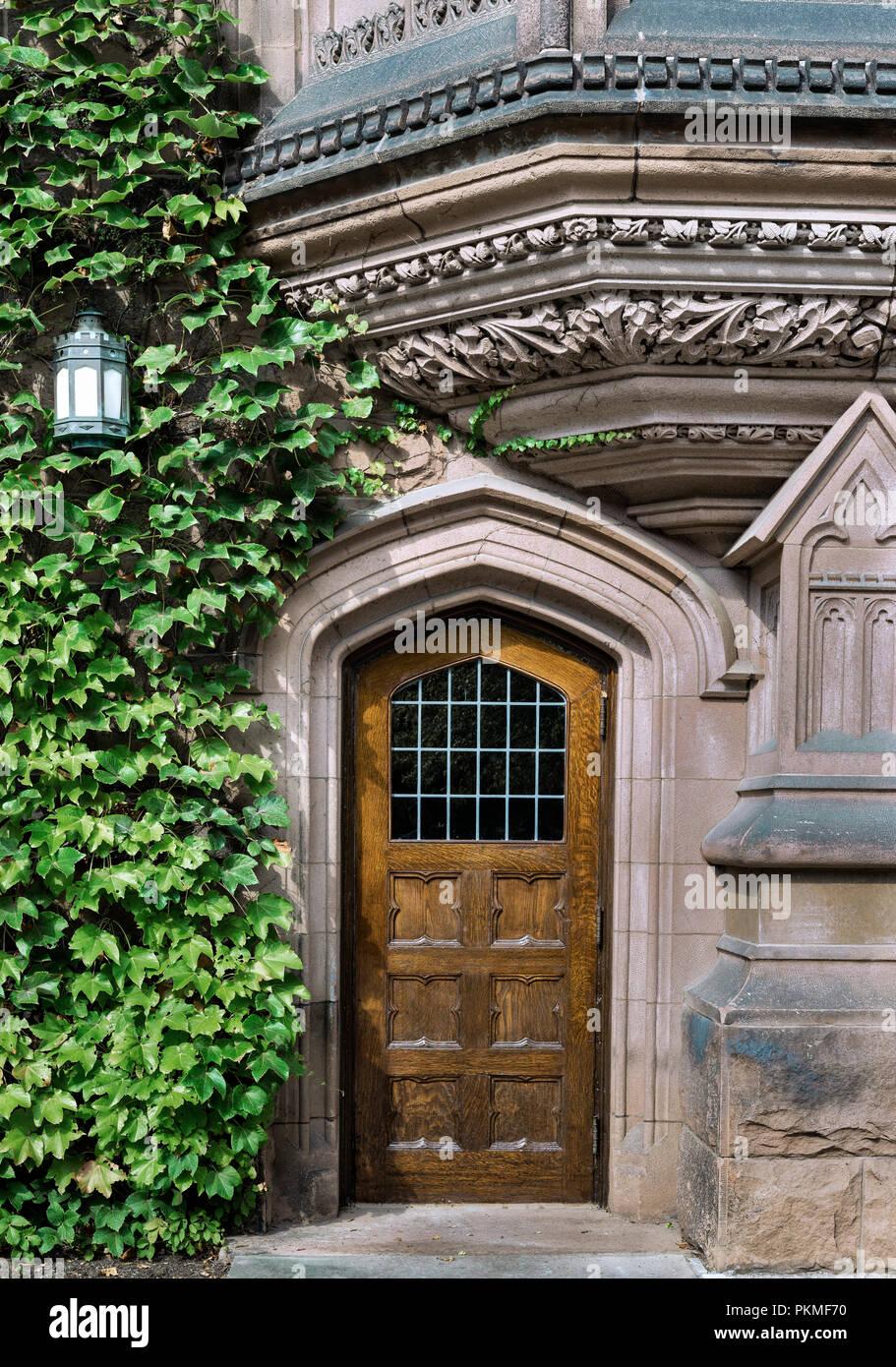 Arquitectura de la Ivy League, de la Universidad de Princeton, Nueva Jersey, EE.UU.. Imagen De Stock