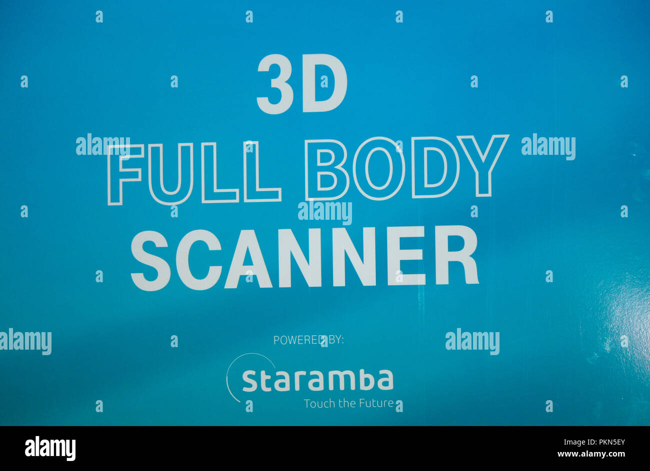 Ein '3d' der Escáner de cuerpo completo 'Firma' taramba, Berlín. Imagen De Stock