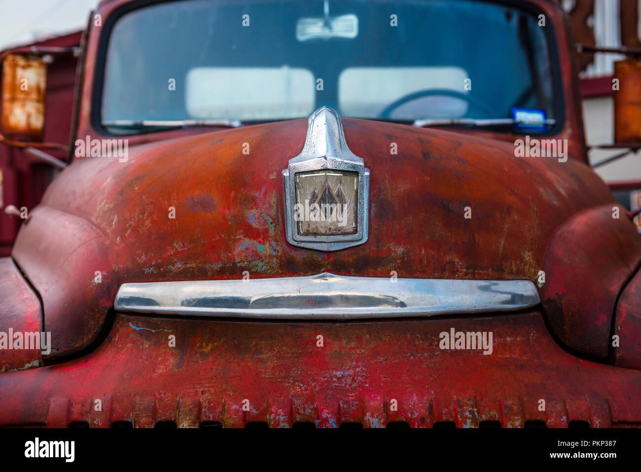 International L-120 camioneta pickup roja en Texas, EE.UU. Foto de stock