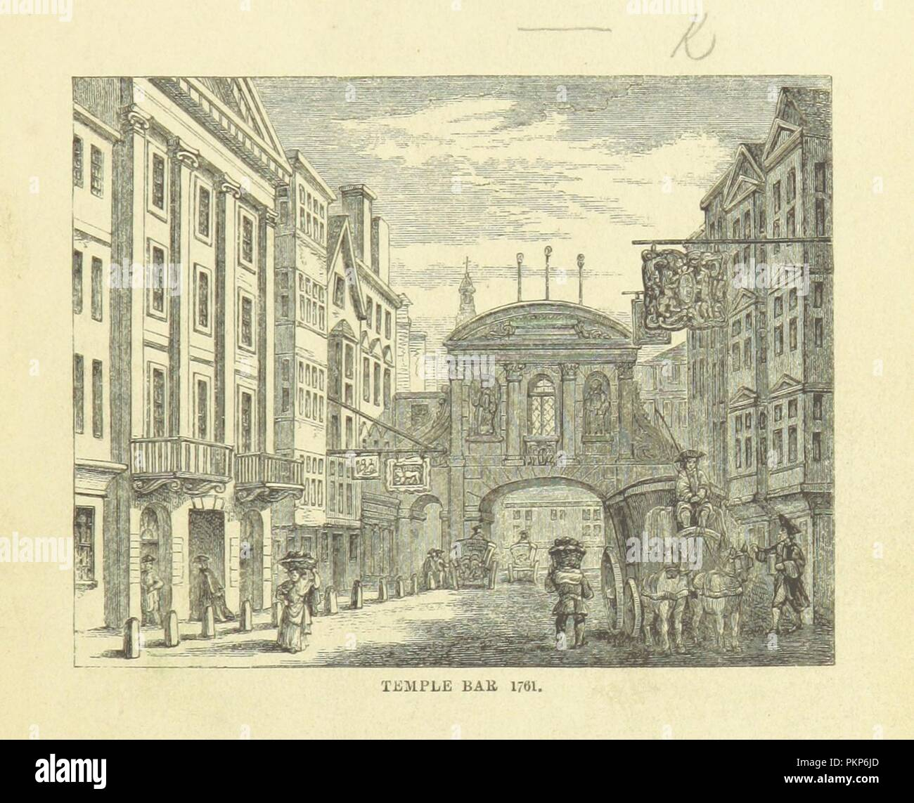 """Imagen de la página 11 de """"Haunted London . Ilustrado por F. W. Fairholt' . Imagen De Stock"""