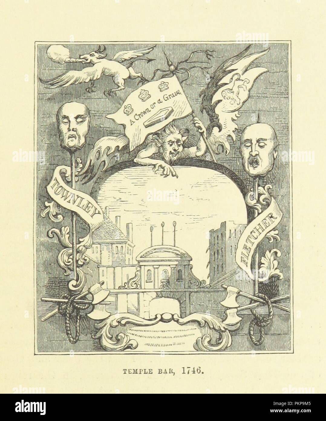 """Imagen de la página 49 de """"Haunted London . Ilustrado por F. W. Fairholt' . Imagen De Stock"""