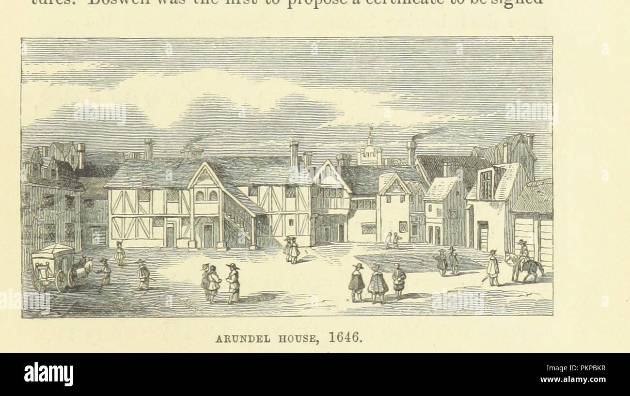 """Imagen de la página 73 del """"Haunted London . Ilustrado por F. W. Fairholt' . Imagen De Stock"""