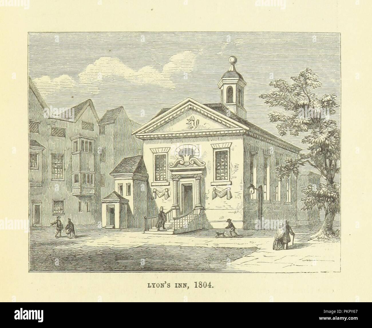"""Imagen de la página 329 de """"Haunted London . Ilustrado por F. W. Fairholt' . Imagen De Stock"""