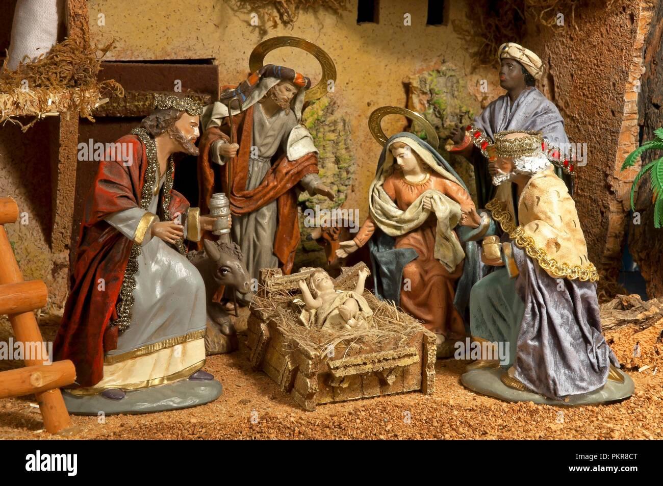 Fotos De Belenes En Espana.Belenes Y Reyes Magos Navidad Espana Europa Foto Imagen